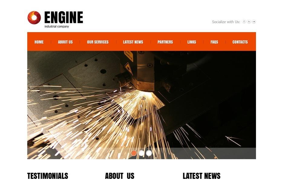 PSD Template over Industriele New Screenshots BIG