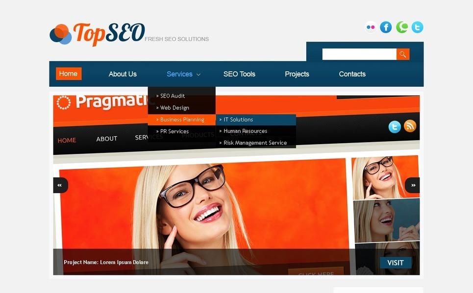 Modèle PSD  pour site Web de référencement New Screenshots BIG