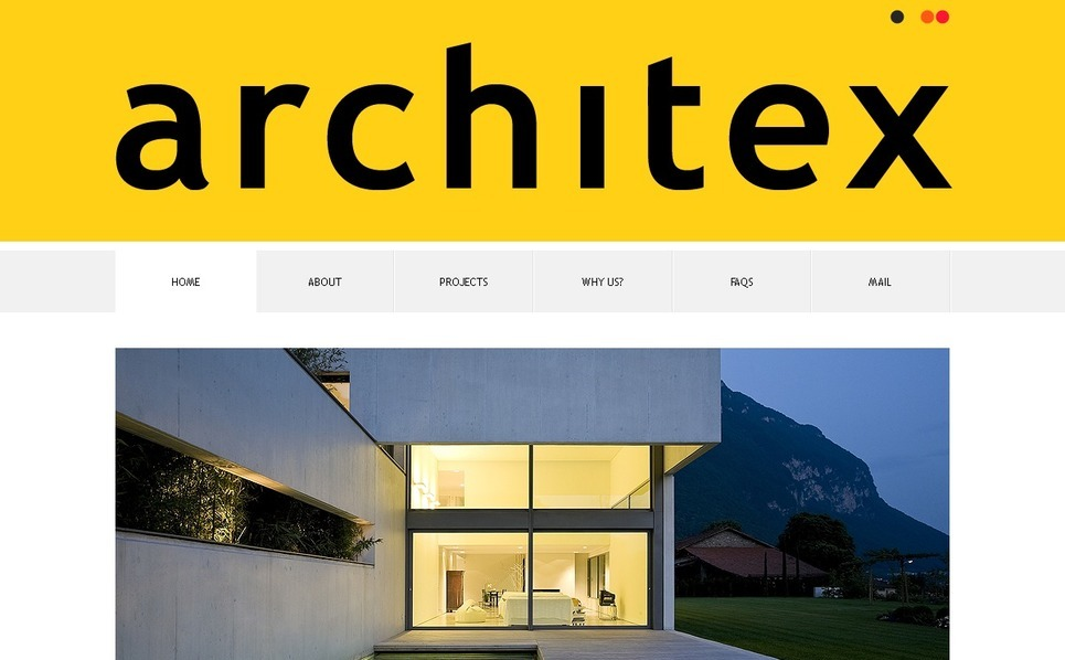 Modèle PSD  pour site d'architecture New Screenshots BIG
