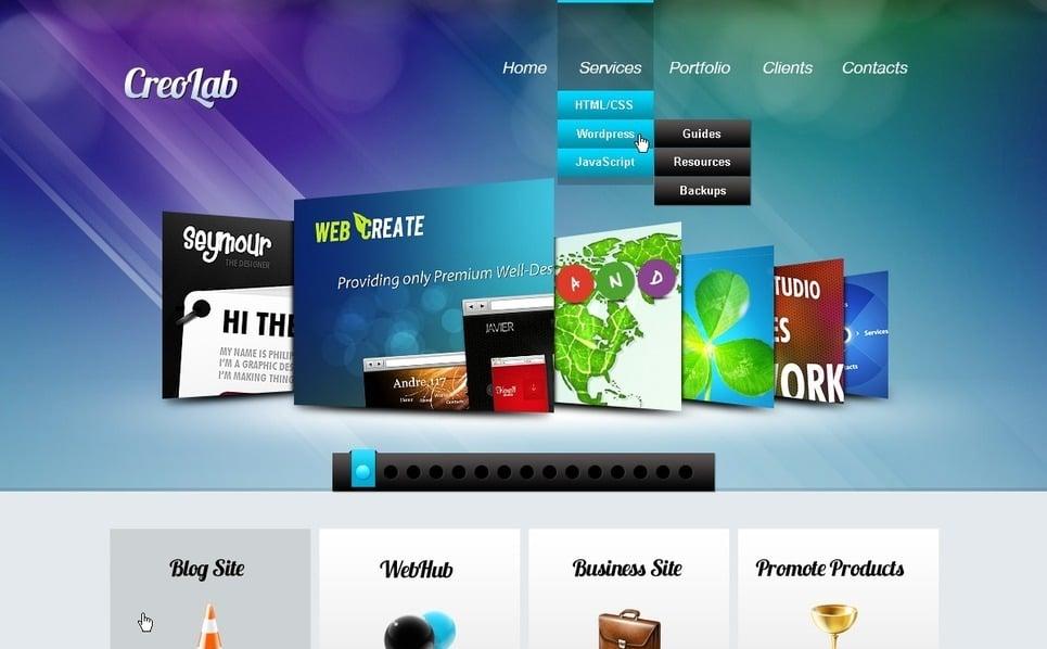 Modello PSD  #56813 per Un Sito di Sviluppo Web New Screenshots BIG