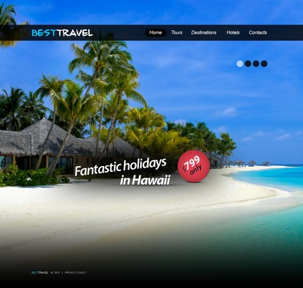 ADOBE Photoshop Template 56814 Home Page Screenshot