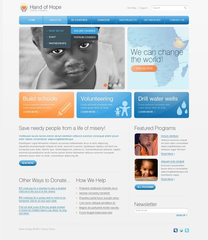 ADOBE Photoshop Template 56816 Home Page Screenshot