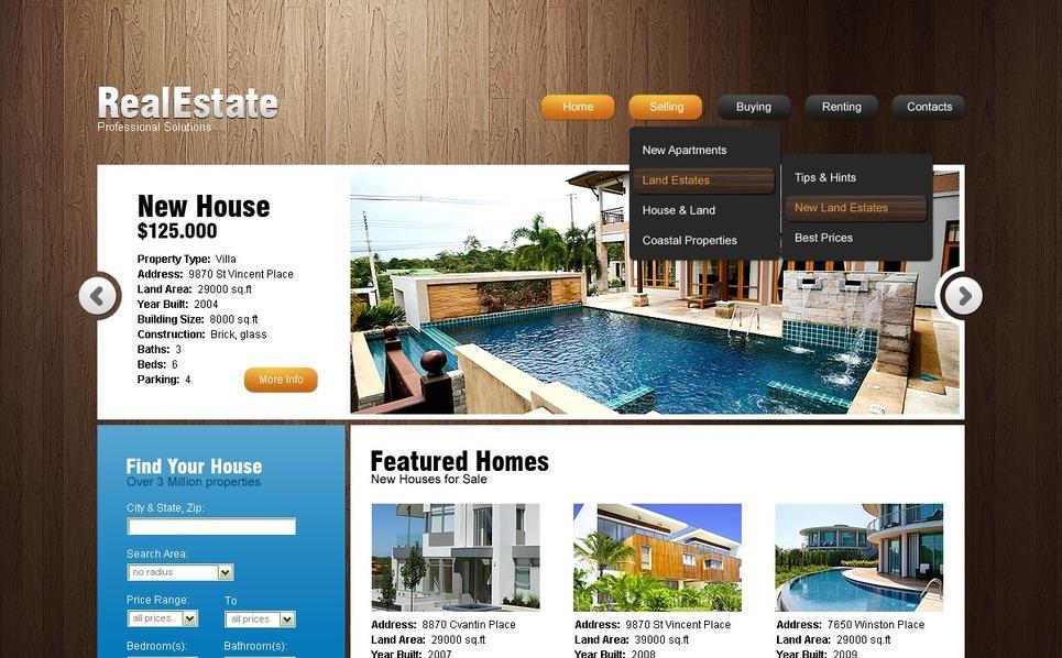 Szablon PSD #56818 na temat: nieruchomość New Screenshots BIG