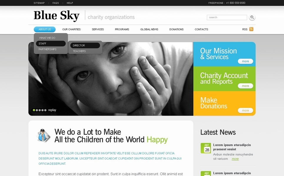 Template PSD  #56821 per Un Sito di Beneficenza New Screenshots BIG