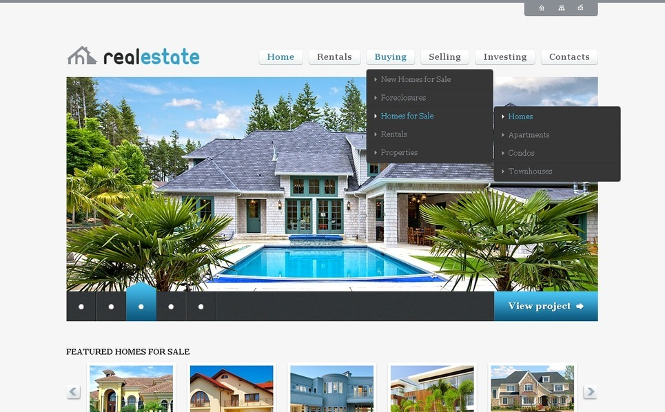 Modèle PSD  pour site d'immobilier New Screenshots BIG