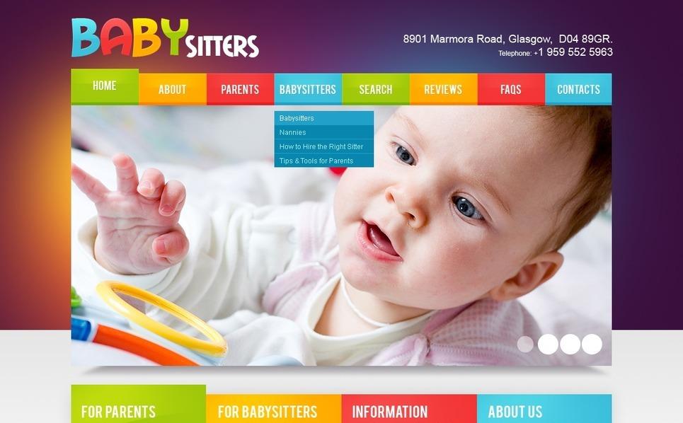 保姆网站PSD模板 New Screenshots BIG