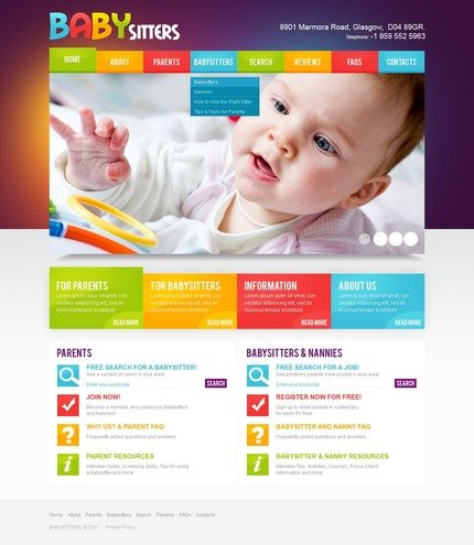 ADOBE Photoshop Template 56830 Home Page Screenshot