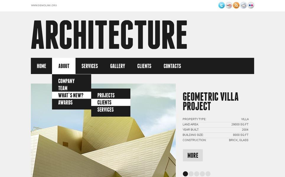 Szablon PSD #56833 na temat: architektura New Screenshots BIG