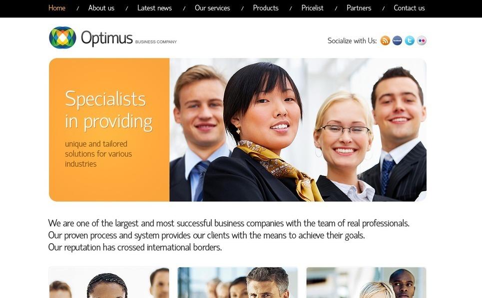 Plantilla PSD #56838 para Sitio de Negocio y Servicios New Screenshots BIG