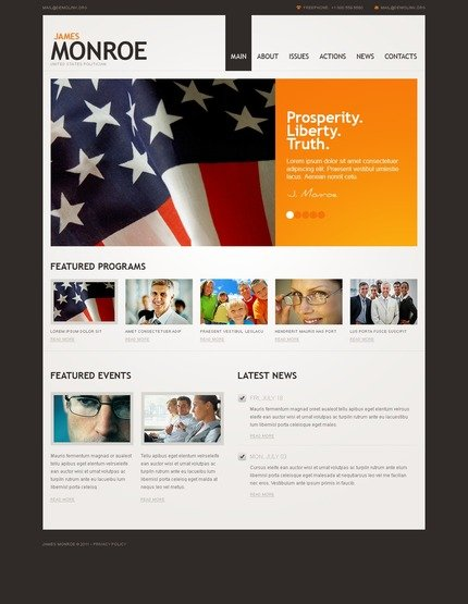ADOBE Photoshop Template 56841 Home Page Screenshot