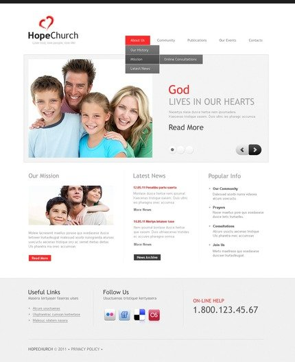ADOBE Photoshop Template 56844 Home Page Screenshot