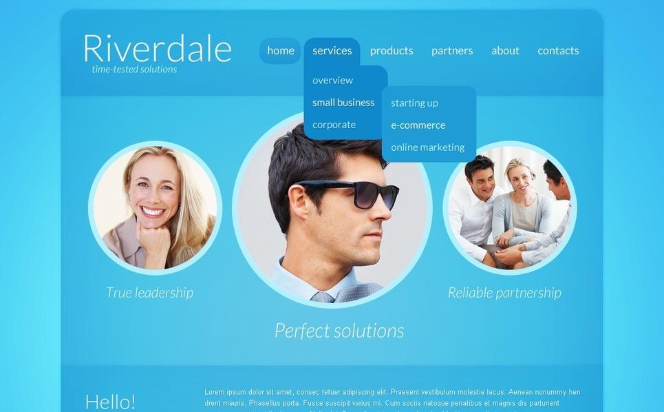 Szablon PSD #56849 na temat: biznes i usługi New Screenshots BIG