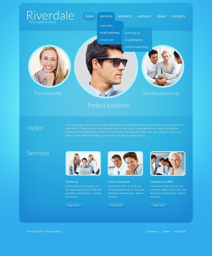 ADOBE Photoshop Template 56849 Home Page Screenshot