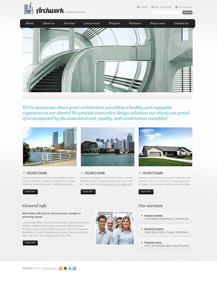 PSD макет сайта №56850