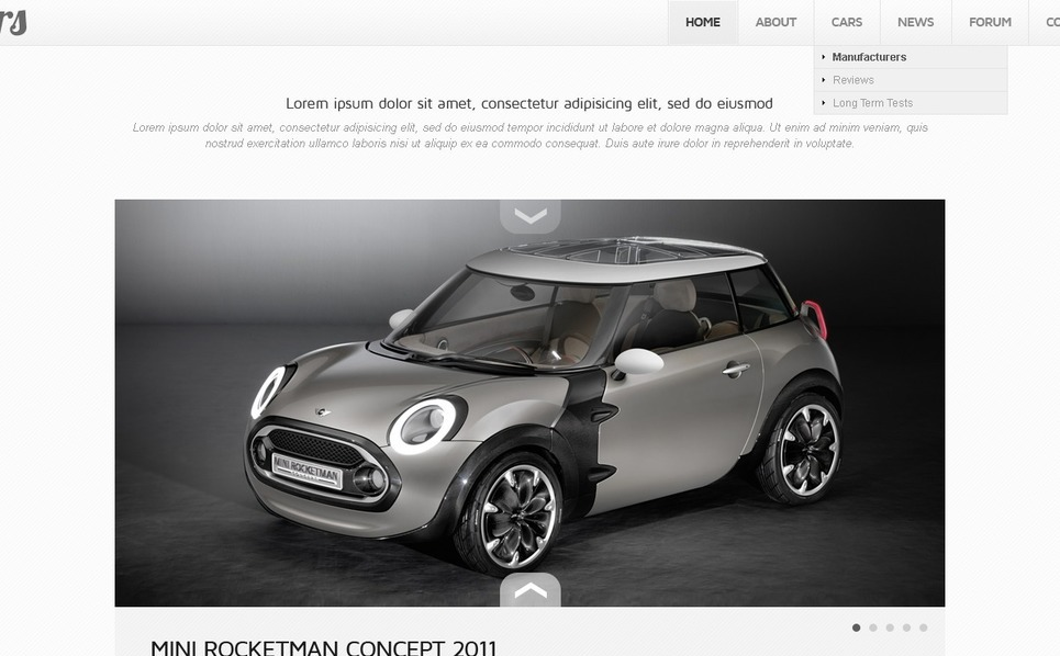 Modèle PSD  pour site d'automobiles New Screenshots BIG