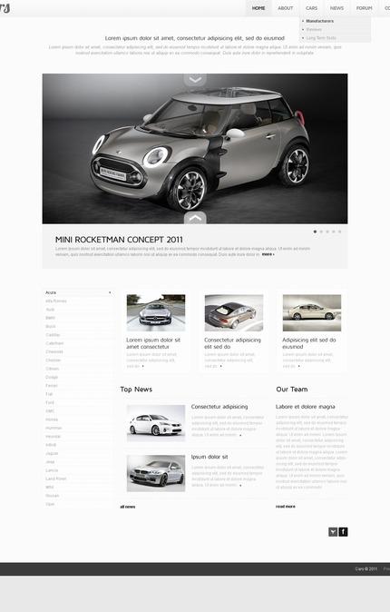 PSD макет сайта №56856