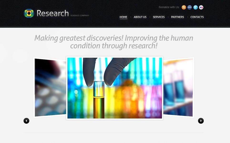 PSD Template over Wetenschappelijke New Screenshots BIG
