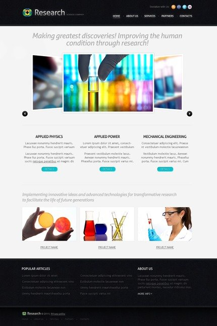 ADOBE Photoshop Template 56861 Home Page Screenshot