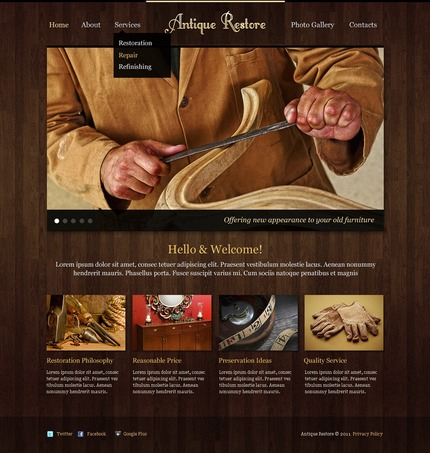 ADOBE Photoshop Template 56868 Home Page Screenshot