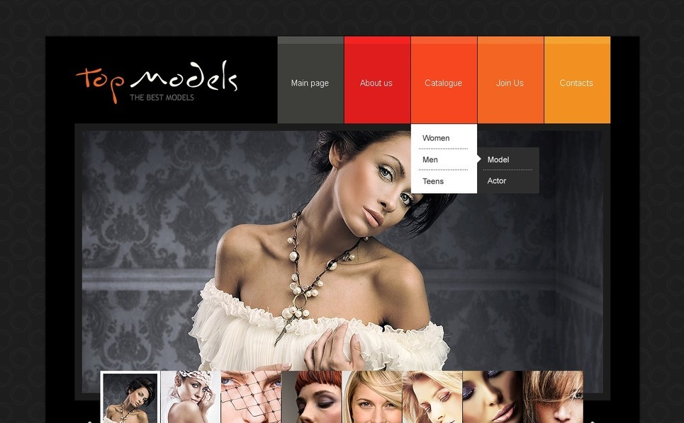 PSD Template over Model Portfolio New Screenshots BIG