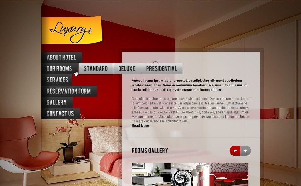 Szablon PSD #56870 na temat: hotele New Screenshots BIG