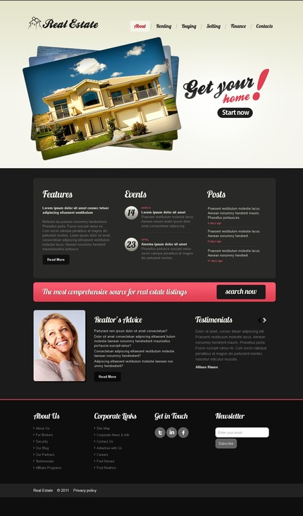 PSD макет сайта №56872