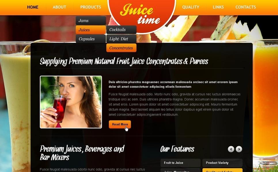 PSD šablona Jídlo a nápoje New Screenshots BIG