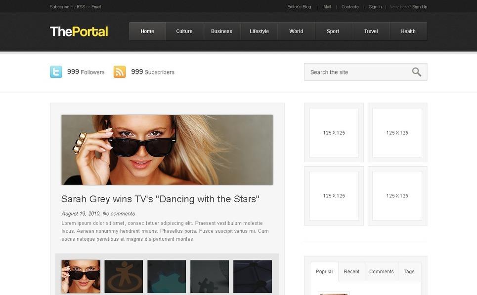 PSD Vorlage für Reisebüro  New Screenshots BIG