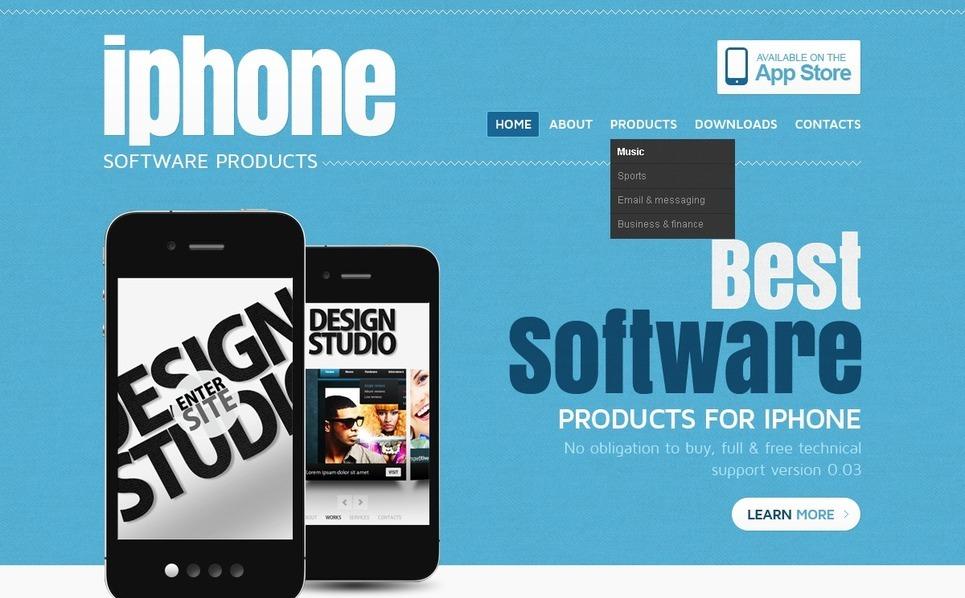 Szablon PSD #56876 na temat: sklep oprogramowania New Screenshots BIG