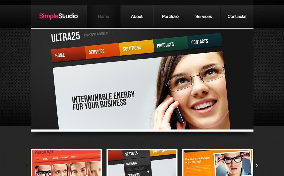 Szablon PSD #56882 na temat: studio projektowe New Screenshots BIG
