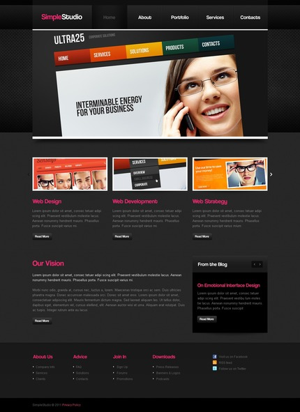PSD макет сайта №56882