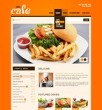 Cafe & Restaurant PSD  Template 56884