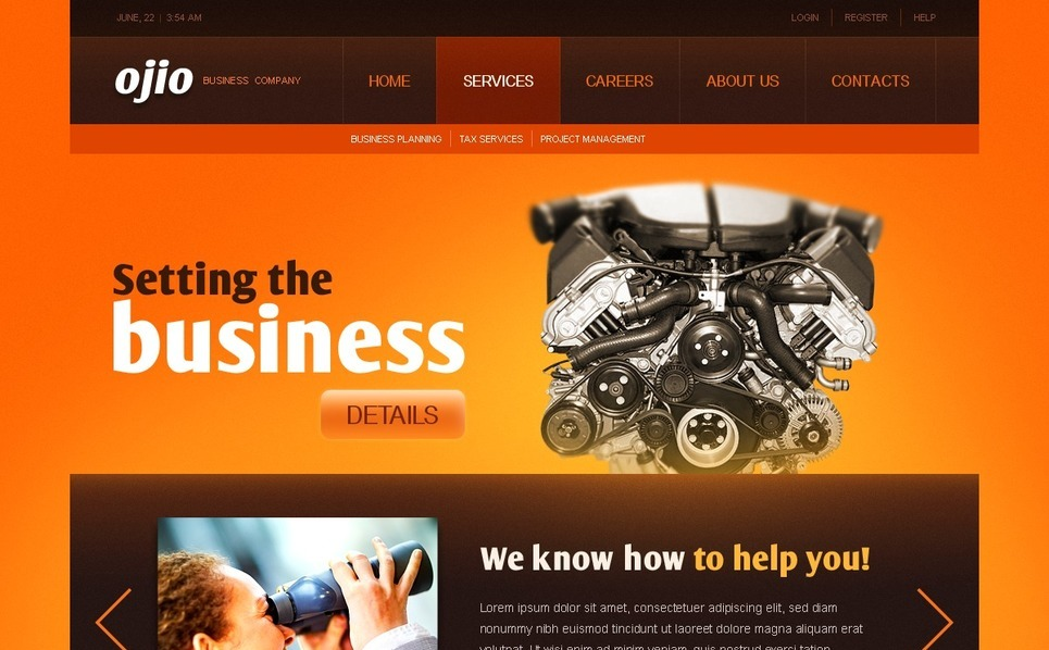Template Photoshop  para Sites de Negócios e Prestadores de Serviços  №56886 New Screenshots BIG