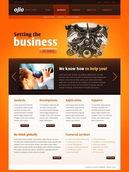 ADOBE Photoshop Template 56886 Home Page Screenshot