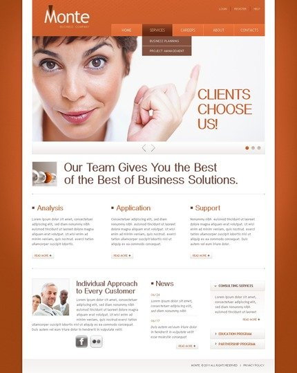 ADOBE Photoshop Template 56888 Home Page Screenshot