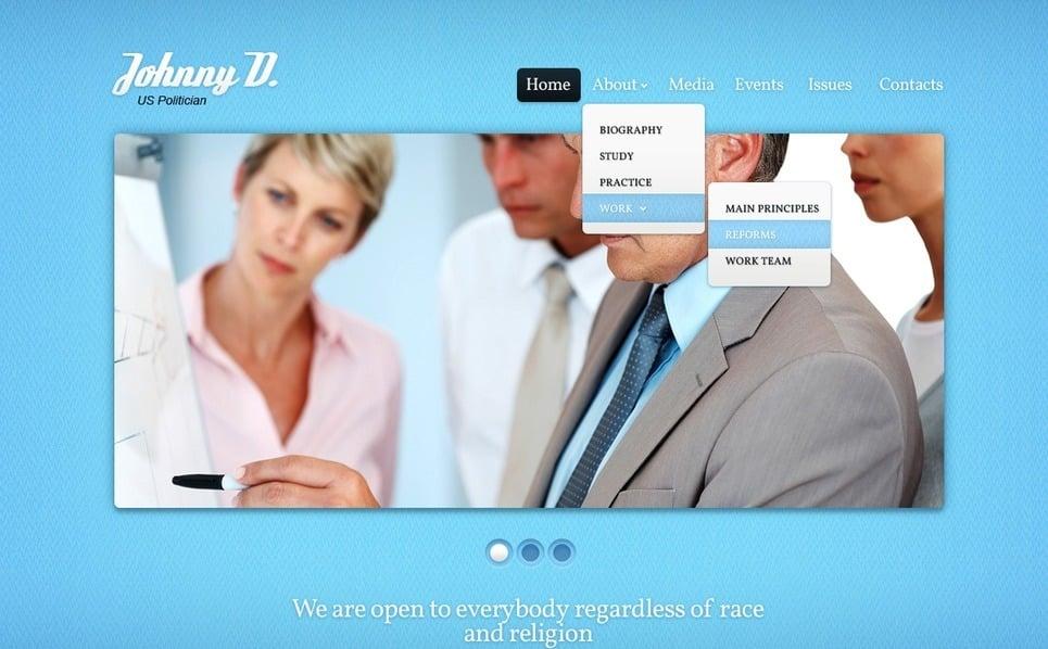 PSD шаблон на тему політичний кандидат New Screenshots BIG