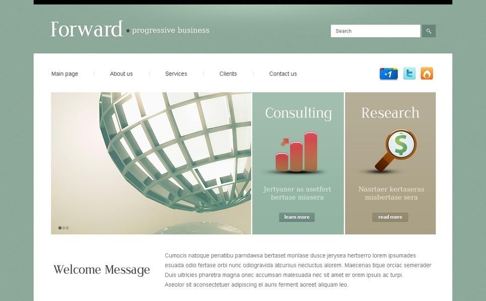 PSD шаблон №56896 на тему Бизнес и услуги New Screenshots BIG