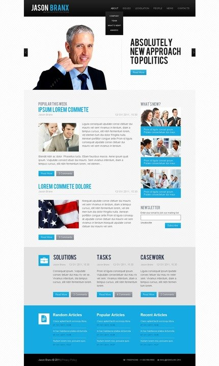 ADOBE Photoshop Template 56897 Home Page Screenshot