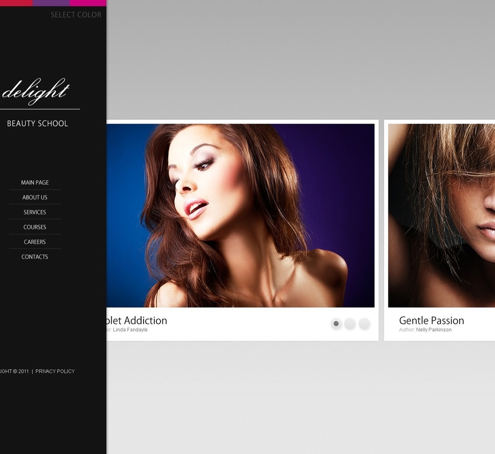 Beauty School PSD Template New Screenshots BIG