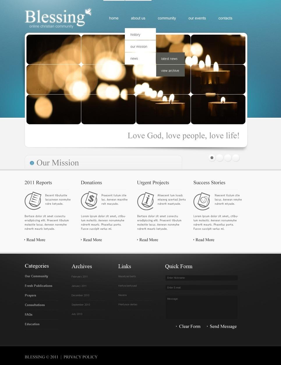 Christian PSD Template New Screenshots BIG