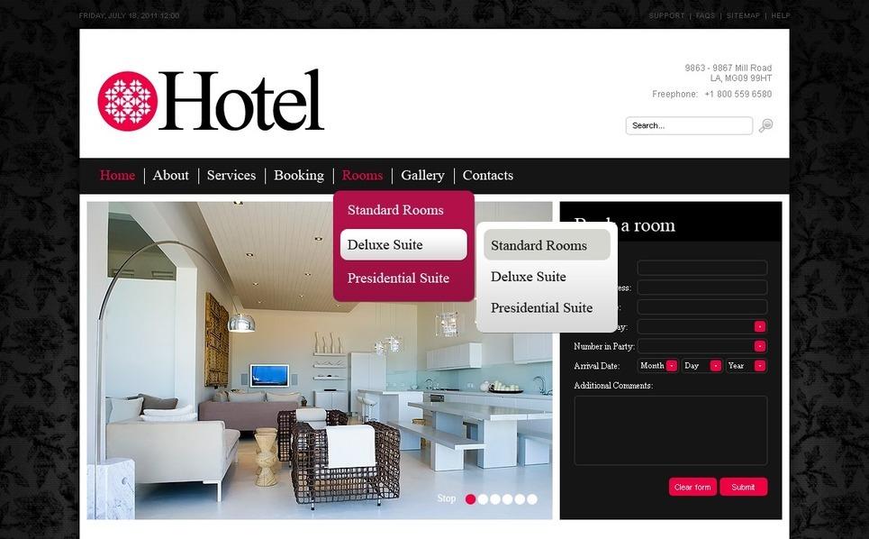 Plantilla PSD #56820 para Sitio de Hoteles New Screenshots BIG