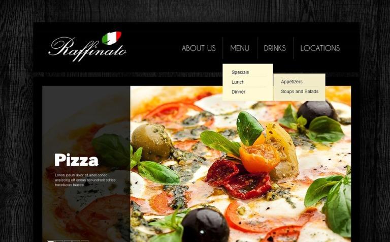 Plantilla PSD #56875 para Sitio de Restaurantes italianos