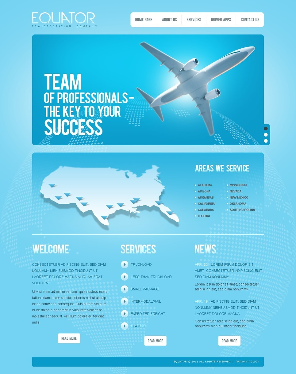 Private Airline PSD Template New Screenshots BIG