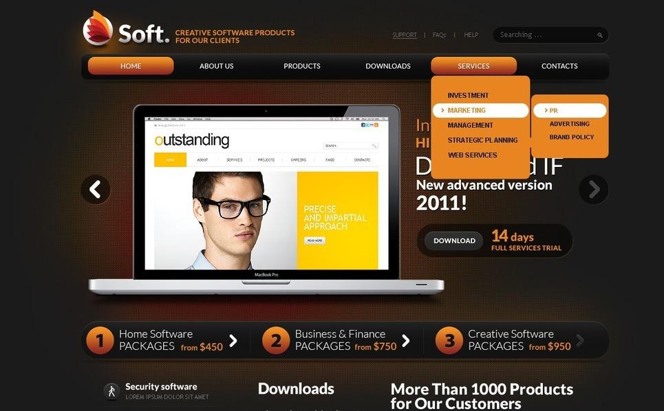 PSD šablona Programové vybavení New Screenshots BIG