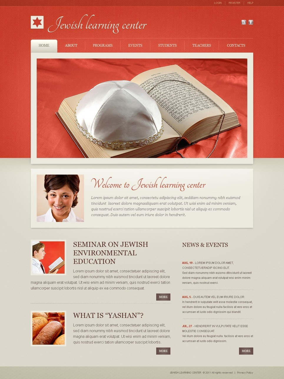 Religious School PSD Template New Screenshots BIG