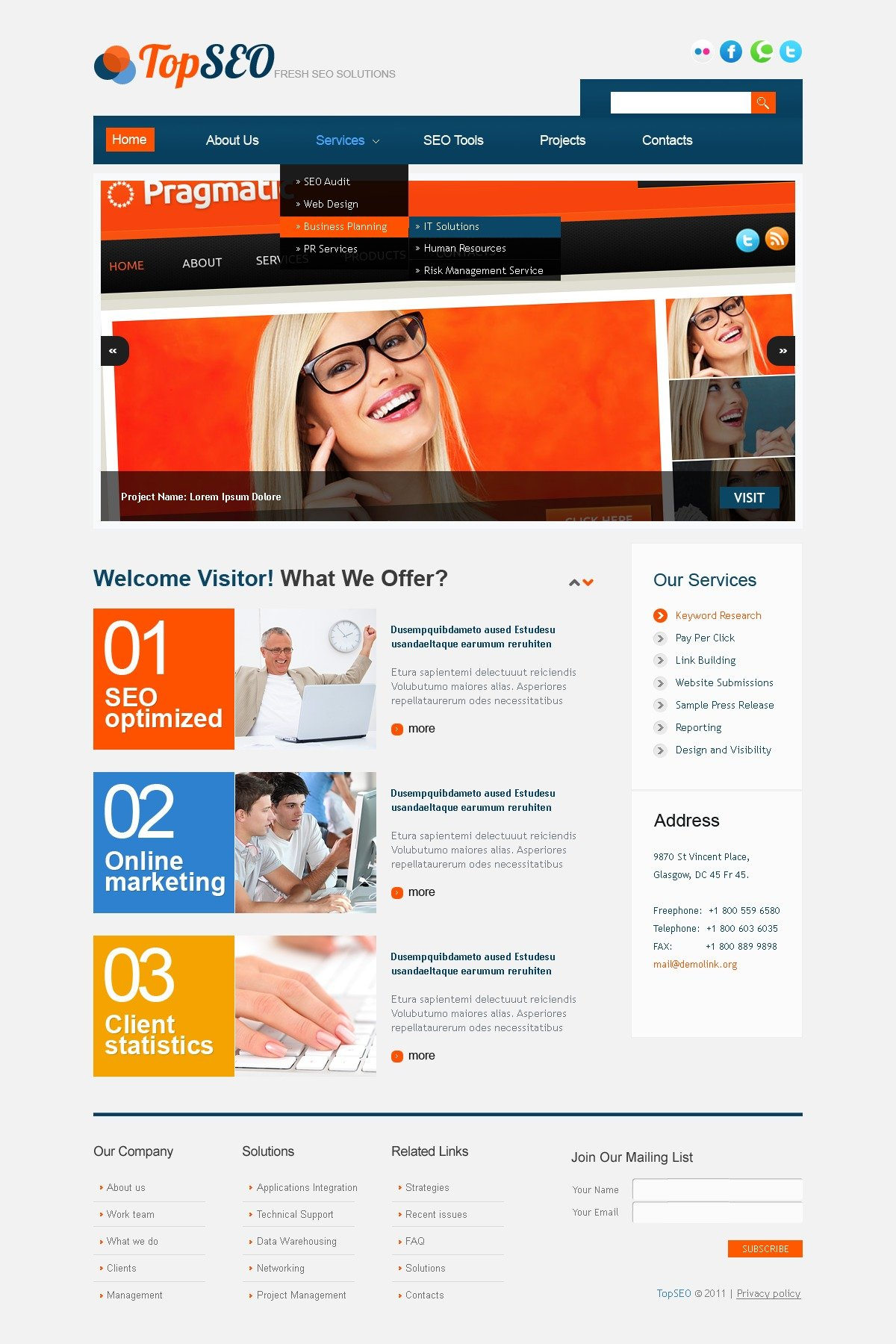 SEO Website PSD Template