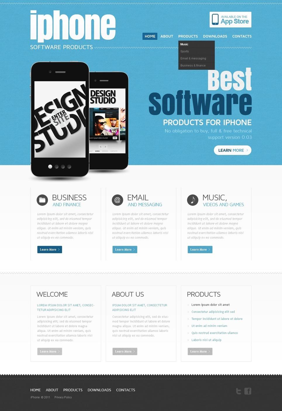 Software Store PSD Template New Screenshots BIG