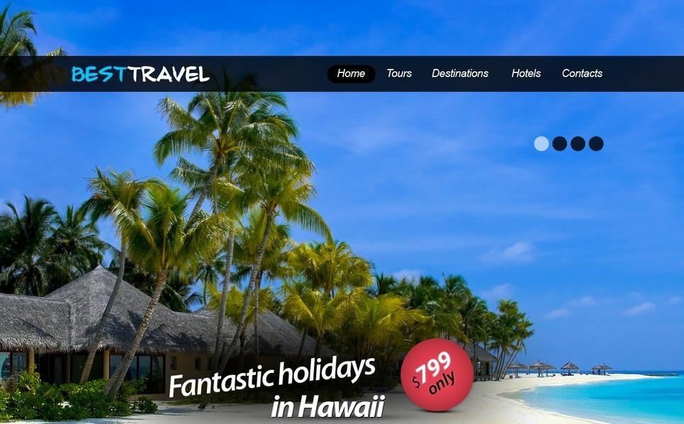 Tema PSD  #56814 per Un Sito di Agenzia di Viaggi New Screenshots BIG
