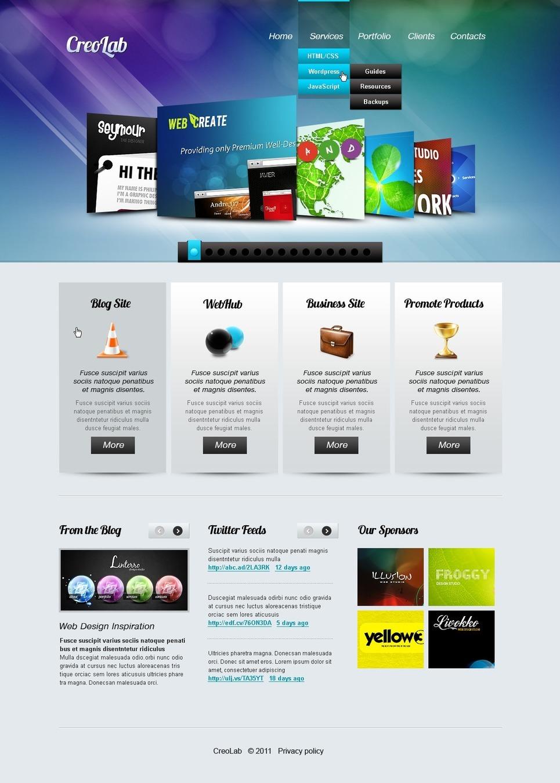 Web Development PSD Template New Screenshots BIG