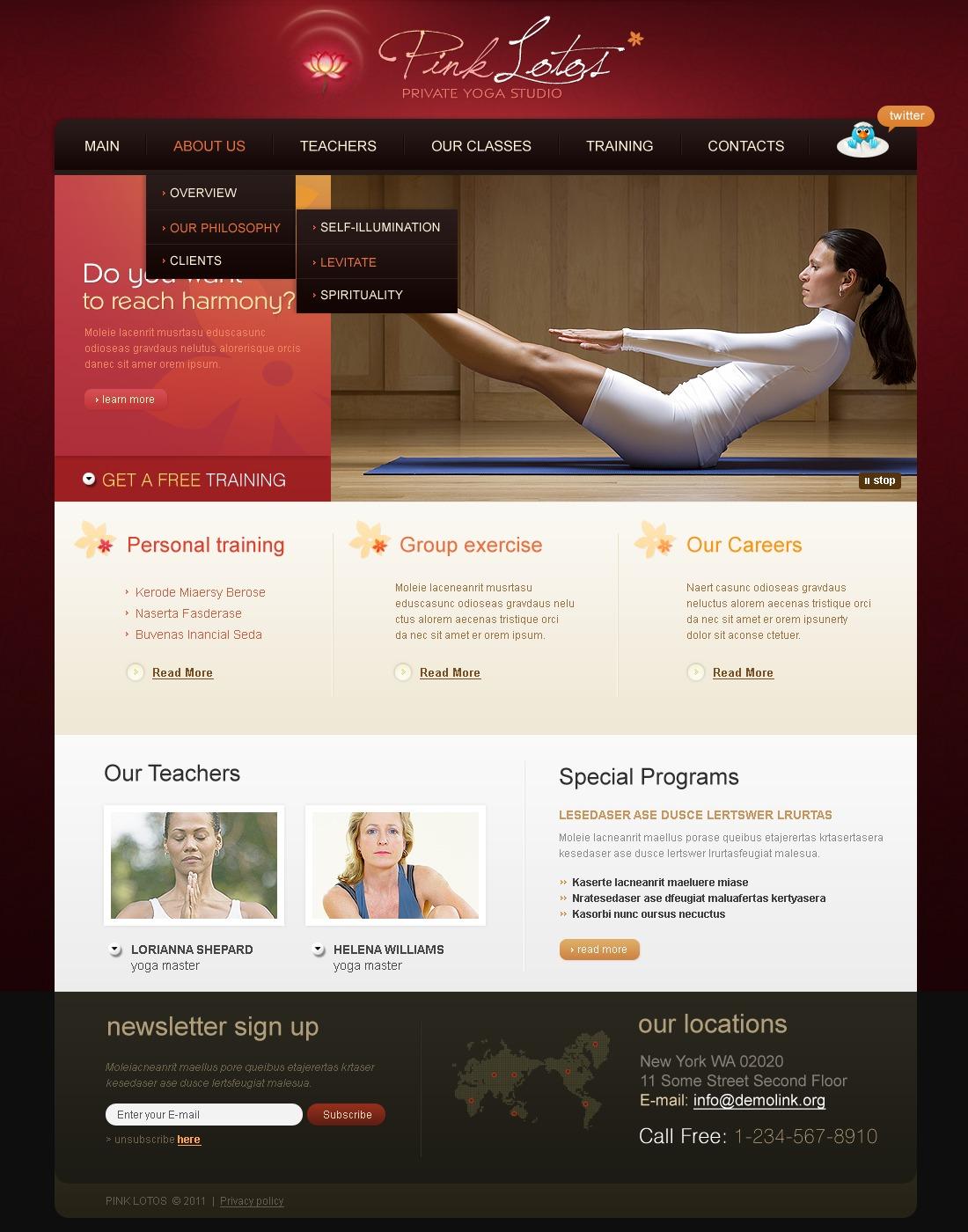 Yoga PSD Template